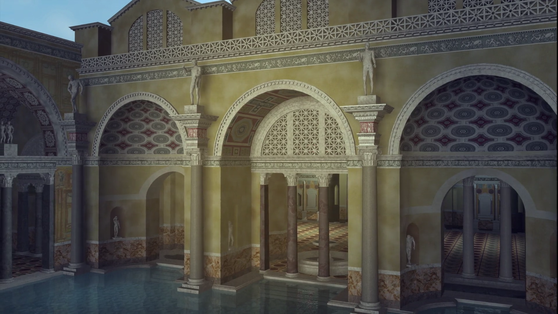 CuriosityStream - Rebuilding Ancient Rome | Baths Of Caracalla Baths Of Caracalla Reconstruction